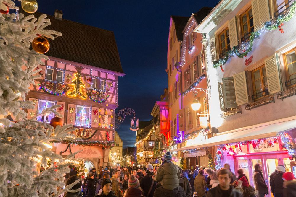 Traveler calles en Navidad